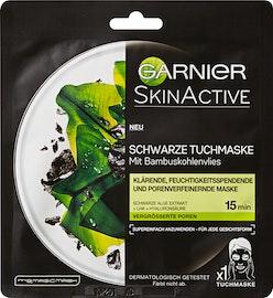 Masque tissu noir avec charbon de bambou SkinActive Garnier