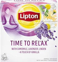 Lipton Tee Herbal Infusion Time to Relax