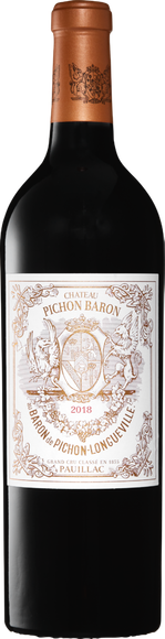 Château Pichon Longueville Baron Pauillac AOC 2018 Vorderseite