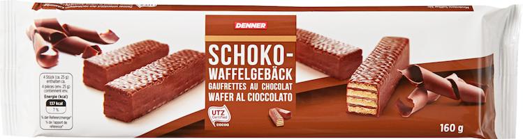 Gaufrettes au chocolat Denner