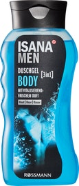 Gel douche Body 3 en 1 ISANA Men