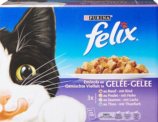 Felix Katzenfutter Häppchen in Gelée