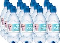 Acqua minerale con tappo push & pull Evian