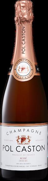 Pol Caston Rosé demi-sec Champagne AOC Vorderseite