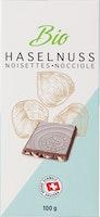 Tablette de chocolat Lait-Noisettes bio Denner