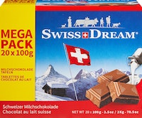Tablette de chocolat Lait Swiss Dream