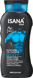 Gel douche 3 en 1 Body ISANA Men
