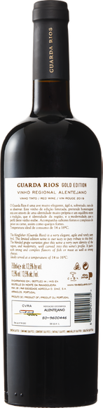 Guarda Rios Gold Edition Vinho Regional Alentejano Zurück
