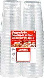 Gobelets à vin blanc transparents