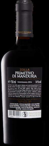 Zolla Primitivo di Manduria DOP Zurück