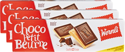 Biscuits Choco Petit Beurre Noir Wernli