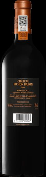 Château Pichon Longueville Baron Pauillac AOC 2018 Zurück
