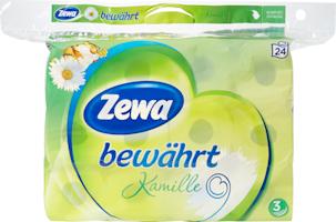 Papier hygiénique Camomille Zewa bewährt