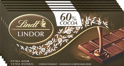 Lindt Lindor Tafelschokolade Extra Dunkel