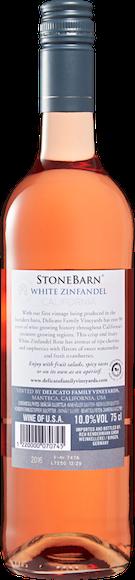 Stone Barn White Zinfandel Rosé Arrière