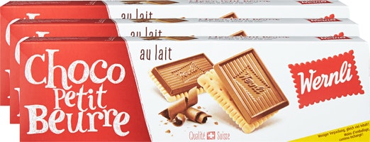 Biscuits Choco Petit Beurre Lait Wernli