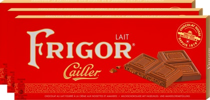 Tavoletta di cioccolata Frigor Latte Cailler